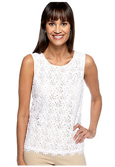 Rafaella Form + Function Lace Tank Top