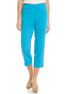 Kim Rogers Solid Stretch Crop Pants