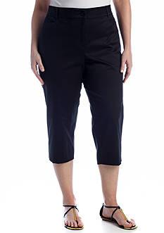 Kim Rogers Plus Size Tech Stretch Capri Pants