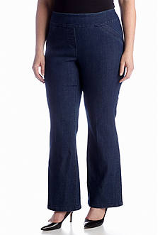 Kim Rogers Plus Size Super Stretch Denim Pant (Short & Average Inseams)