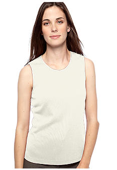 Kim Rogers Top - Petite Ribbed Sleeveless Shell