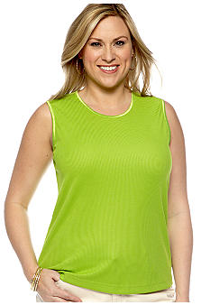 Kim Rogers Plus Size Microfine Ribbed Layering Tank