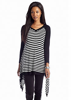 New Directions® Stripe Shark Bite Tunic