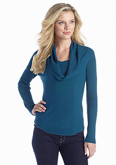 New Directions® Rib Cowl Neck Sweater