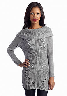 New Directions® Pointelle Marilyn Collar Sweater