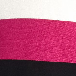 Petite Sweaters: Fuschia Combo New Directions Petite 2Fer Stripe Sweater