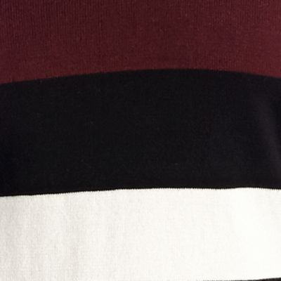 New Directions Petites Sale: Black Combo New Directions Petite 2Fer Stripe Sweater