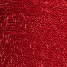 New Directions: Scarlet Red New Directions Petite Eyelash Cowl Neck Sweater
