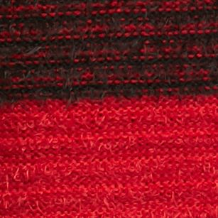 Women: New Directions Sweaters: Radiant Red New Directions Stripe Cowl Neck Eyelash Sweater