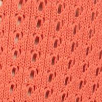 Women: New Directions Sweaters: Tangerine New Directions Pointelle Crochet Hem Sweater