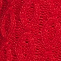 New Directions Women Sale: Radiant Red New Directions Fringe Cowl Neck Cable Tunic Sweater