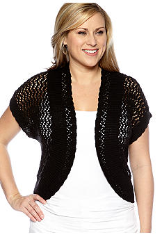 New Directions Plus Size Crochet Shrug