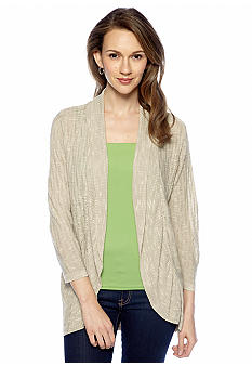 New Directions Ruffle Hem Cardigan