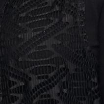 New Directions Women's Plus Sale: Black New Directions Plus Size Long Crochet Fringe Cardigan