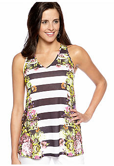 New Directions Garden Party Mirror Floral Tank