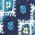 New Directions Women Sale: Navy Combo New Directions Aztec Side Tie Top