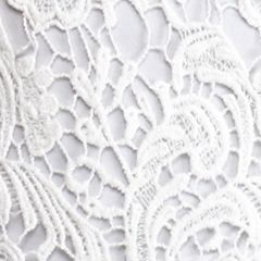 Sleeveless Shirts For Women: White New Directions Lace Swing Tank