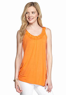 New Directions Solid Braid Neck Cleo Tank