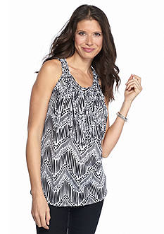 New Directions Fringe Tribal Macrame Tank