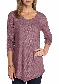 New Directions V Neck Knit Top