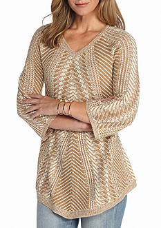 New Directions Patterned Swing Sweater