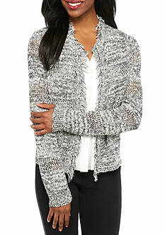 New Directions Petite Long Sleeve Marbled Cardigan