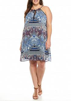 Speechless Plus Size Halter Neck Dress
