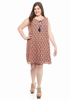 Speechless Plus Size Medallion Printed Dress