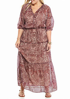 Speechless Plus Size Prairie Maxi Dress
