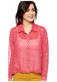 Speechless Foil Dot Blouse