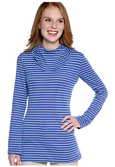 Columbia Reel Beauty Print Hooded Long Sleeve Knit Top