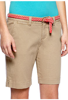 Red Camel Woven Belted Bermuda