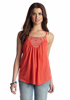 Red Camel® Embroidered Knit Tank