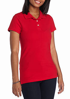 Red Camel Solid Pique Polo Top