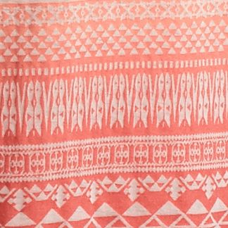 Juniors: Knit Sale: Geranium Red Camel Aztec Burn Out Tank