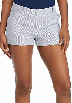 Red Camel Seersucker Shorts