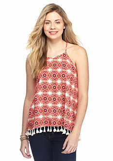 Red Camel India Inspired Fringe Tank