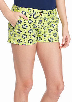 Red Camel Medallion Print Shorts