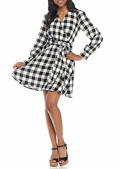Red Camel Plaid Shirtdress