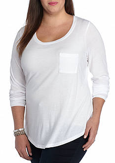 Red Camel Plus Size Pocket Tee