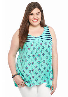 Red Camel Plus Size Twin Print Top