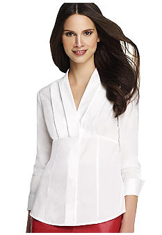 Anne Klein Button Front Top