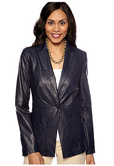 Anne Klein Faux Leather Jacket