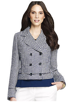 Anne Klein Tweed Peacoat
