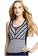 Anne Klein Stripe Tank Shell