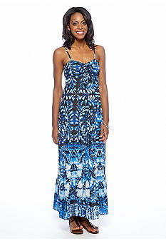 Anne Klein Watercolor Printed Maxi Dress
