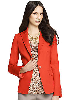 Anne Klein One Button Blazer