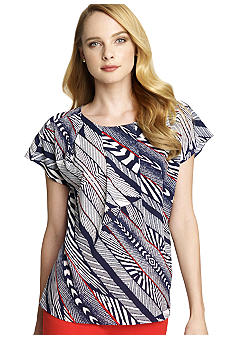 Anne Klein Nautical Stripe Blouse