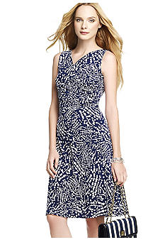 Anne Klein Sleeveless Dot Print Dress