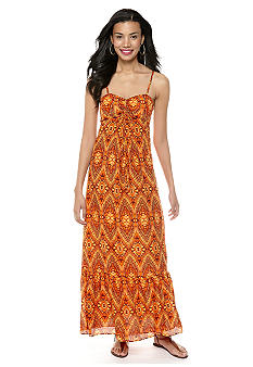 Anne Klein Ikat Print Maxi Dress